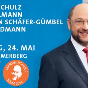 Banner Abschluss-Kundgebung mit Martin Schulz, Udo Bullmann, Thorsten Schäfer-Gümbel - Oliver Schopp-Steinborn